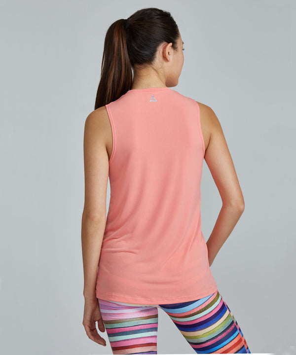 Muscle Tee - Peach Peach Muscle Tee - Women's Activewear Tank Top by PRISMSPORT