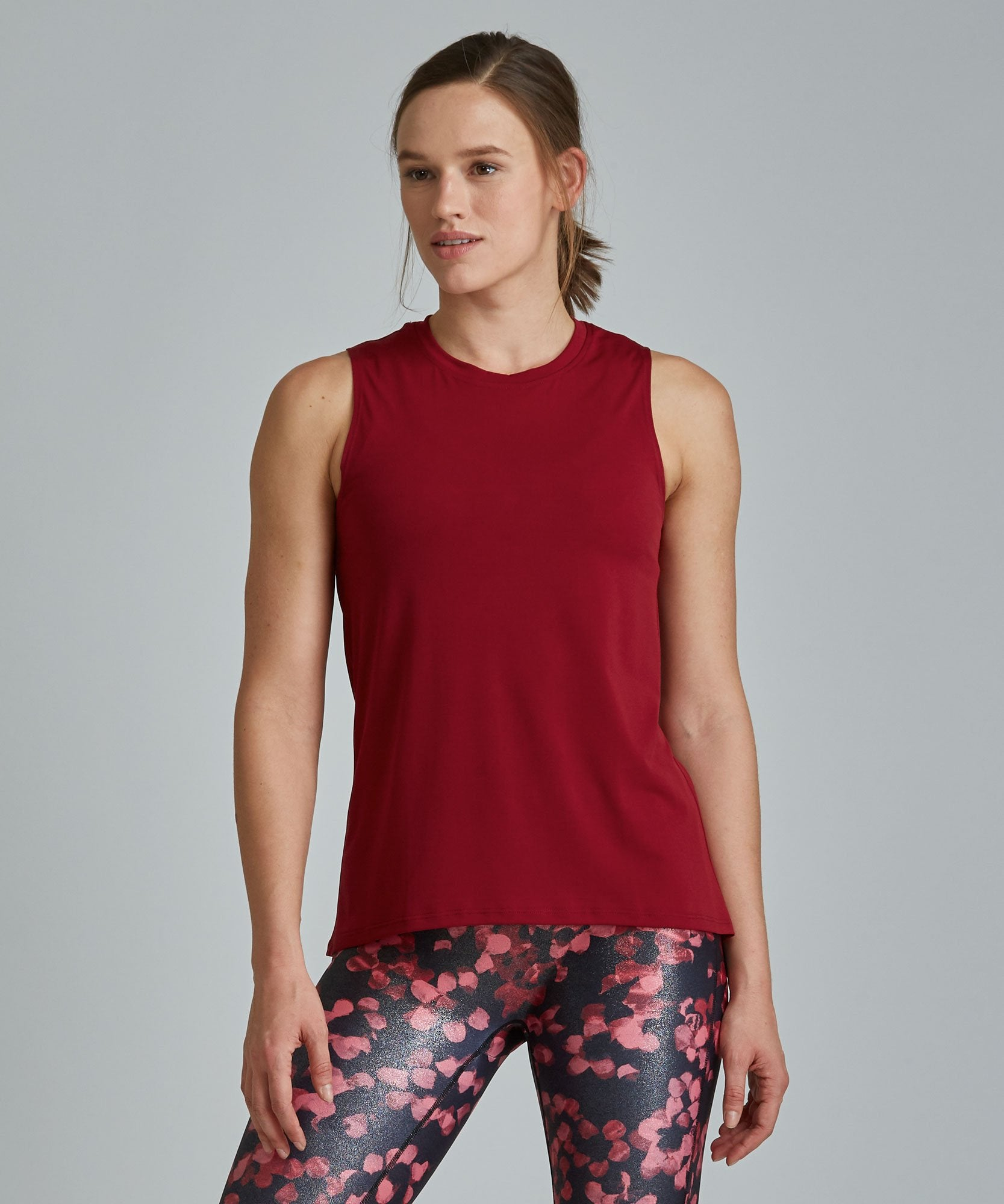 Muscle Tee - Coral