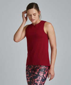 Muscle Tee - Ruby Ruby Muscle Tee - Women's Activewear Tank Top by PRISMSPORT