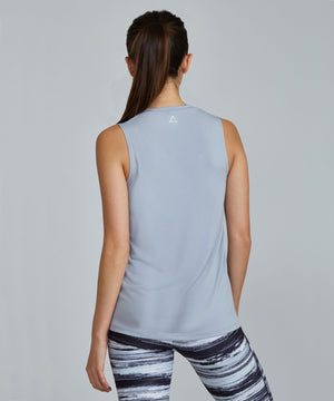Muscle Tee - Silver Silver Muscle Tee - Women's Activewear Tank Top by PRISMSPORT