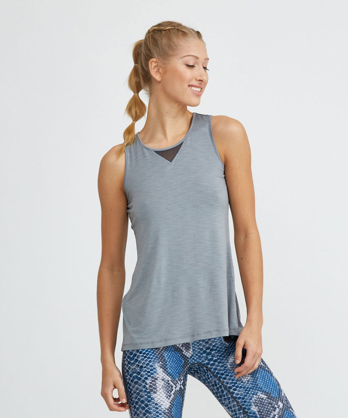 Jazz Top - Slate Slate Jazz Top - Women's Activewear Tank Top by PRISMSPORT