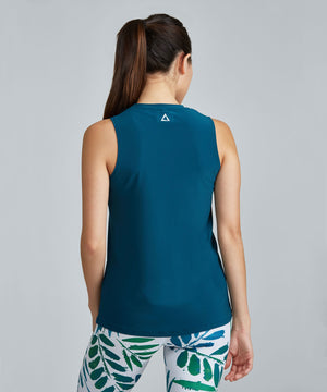 Muscle Tee - Teal Teal Muscle Tee - Women's Activewear Tank Top by PRISMSPORT