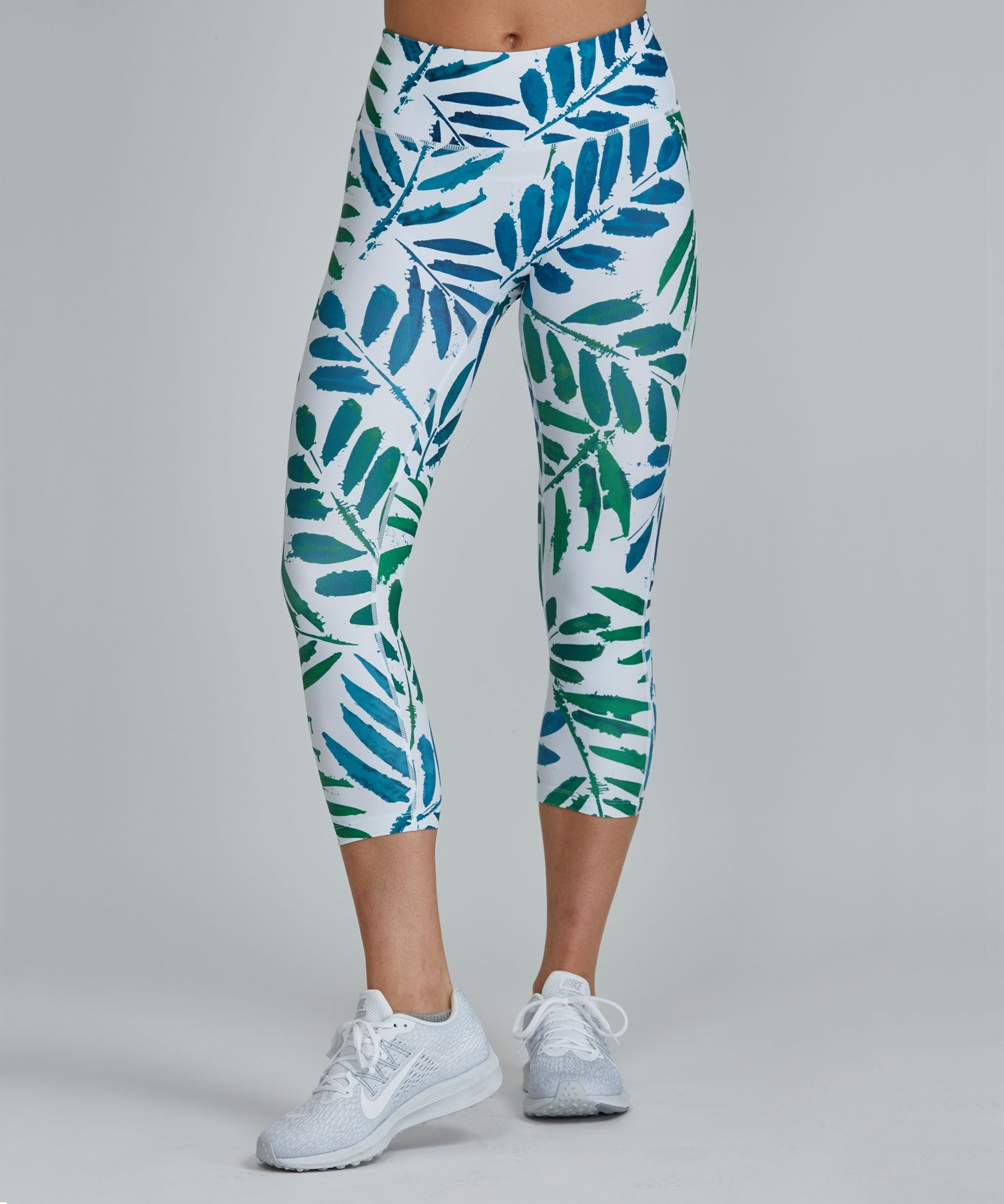 Capri Legging - Ferns
