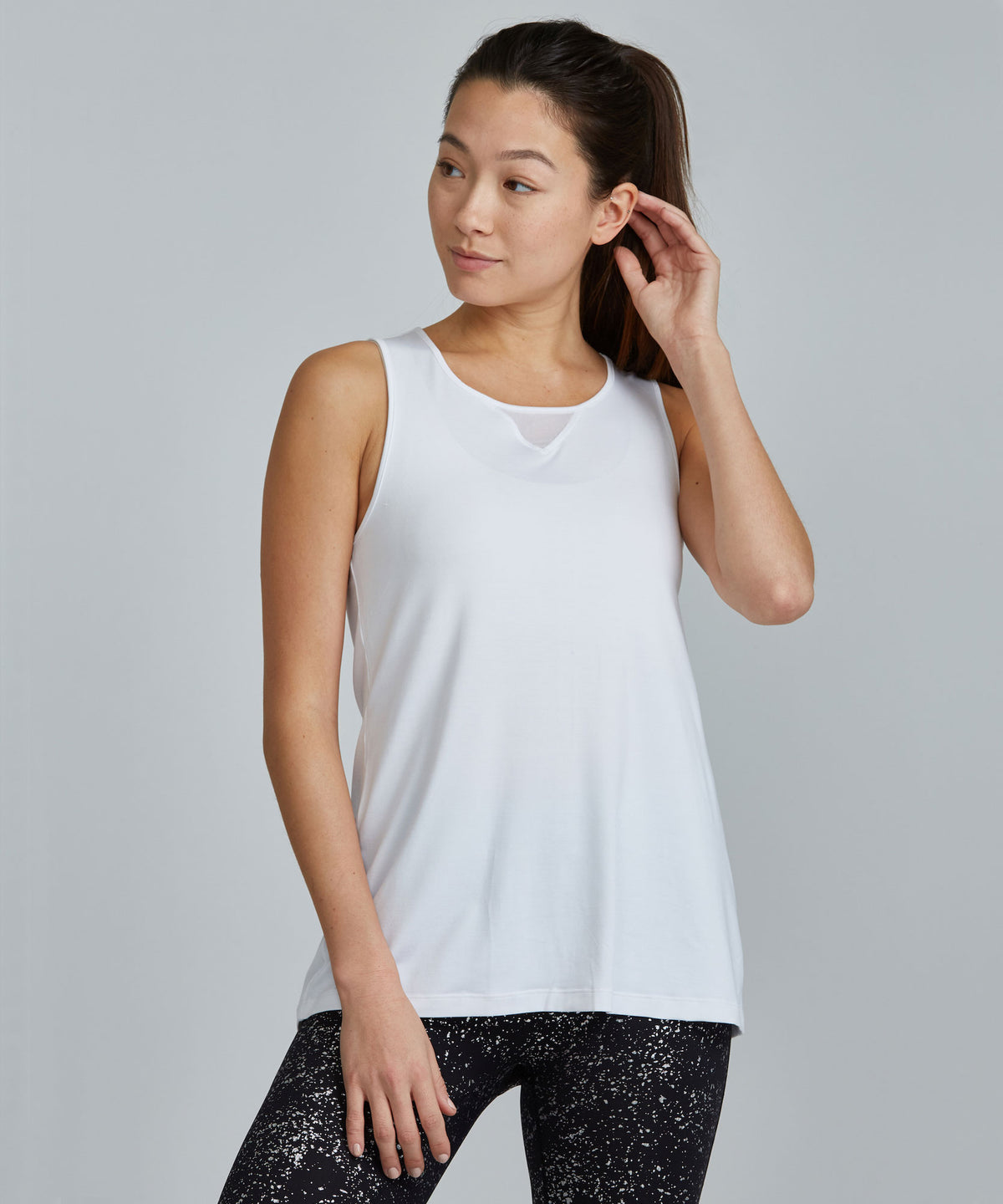 Jazz Top - White White Jazz Top - Women's Activewear Tank Top by PRISMSPORT