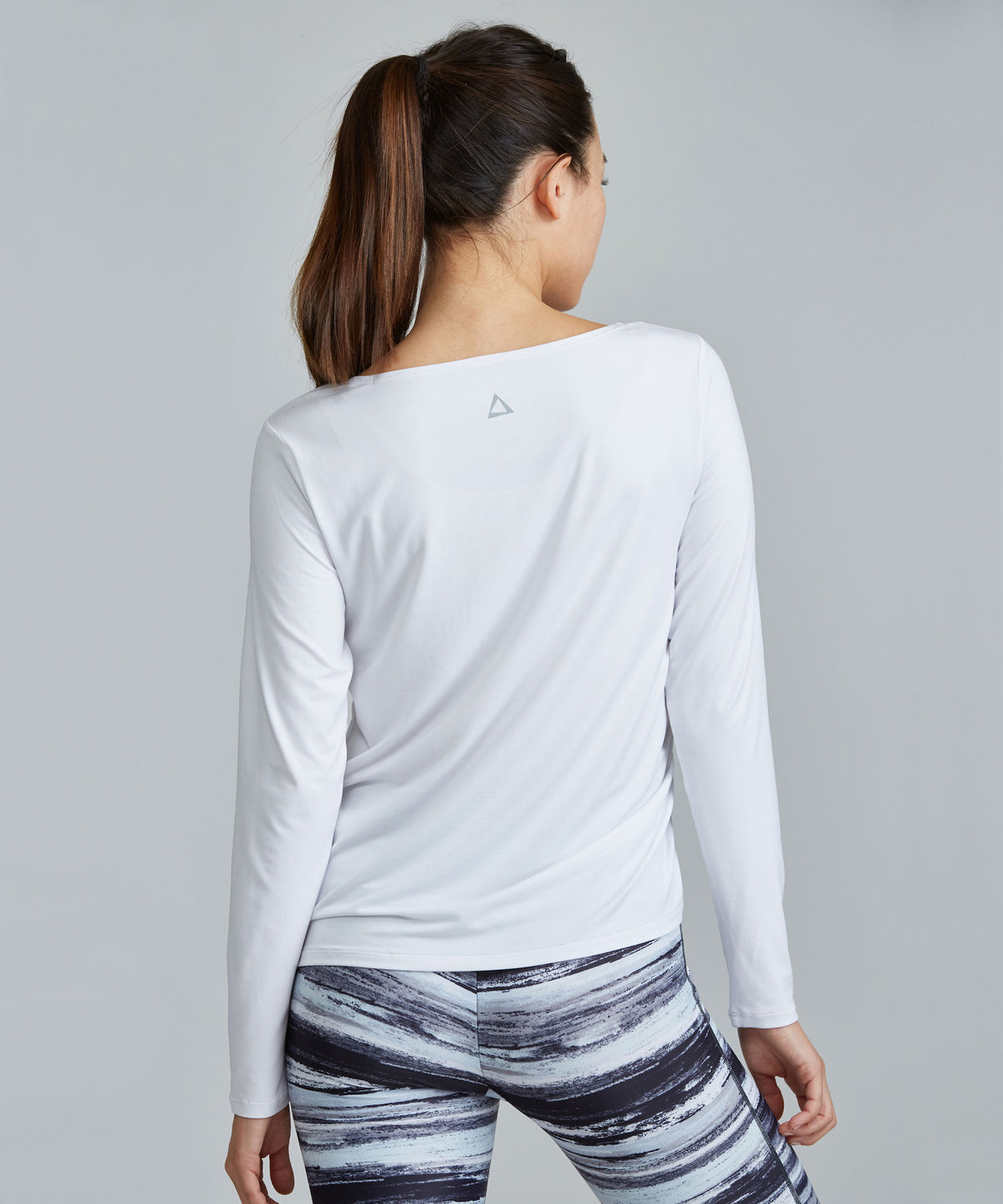 Joan Top - White White Joan Top - Women's Activewear Long Sleeve Top by PRISMSPORT