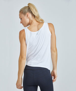 Lucy Top - White White Lucy Top - Women's Activewear Tank Top by PRISMSPORT