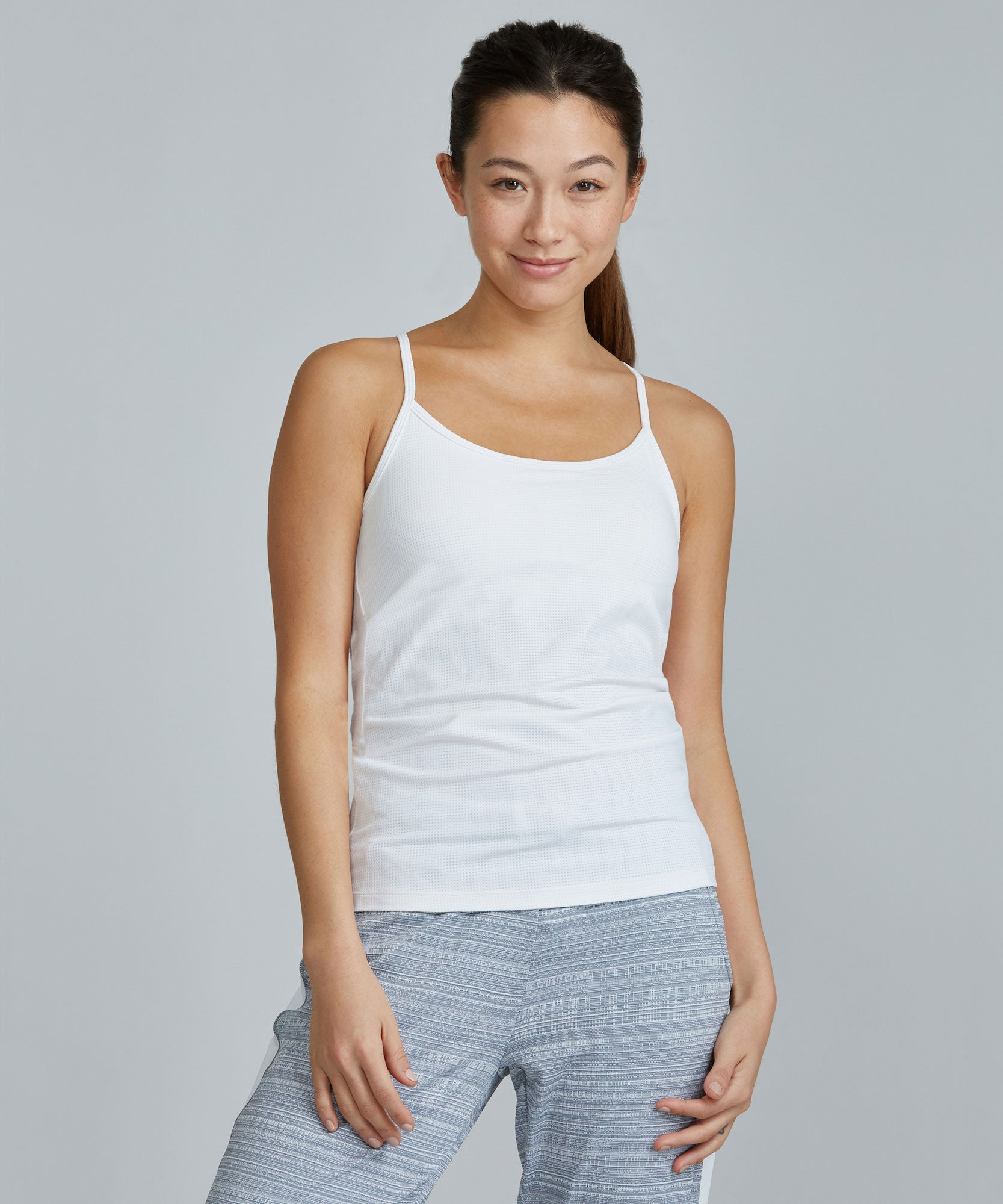 Perforated Tank - White