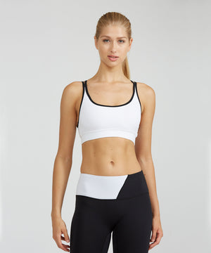 Strappy Bra - White White Strappy Bra - Women's Sports Bra by PRISMSPORT