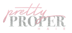 Pretty Proper Hair  logo