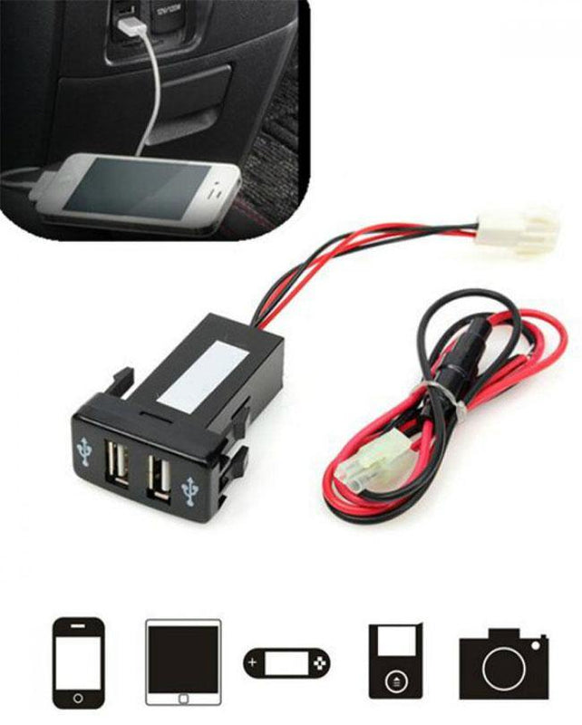 Car Mobile Fast Charger Dual Slots 2.1 A /1.2 A - zapple.pk