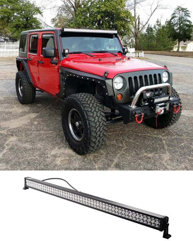 LED Light Bar 51 Inch - White - zapple.pk