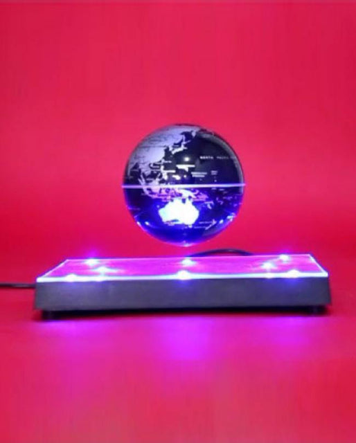 Magnetic Levitated Earth Globe (Square/Mirror Base) - zapple.pk