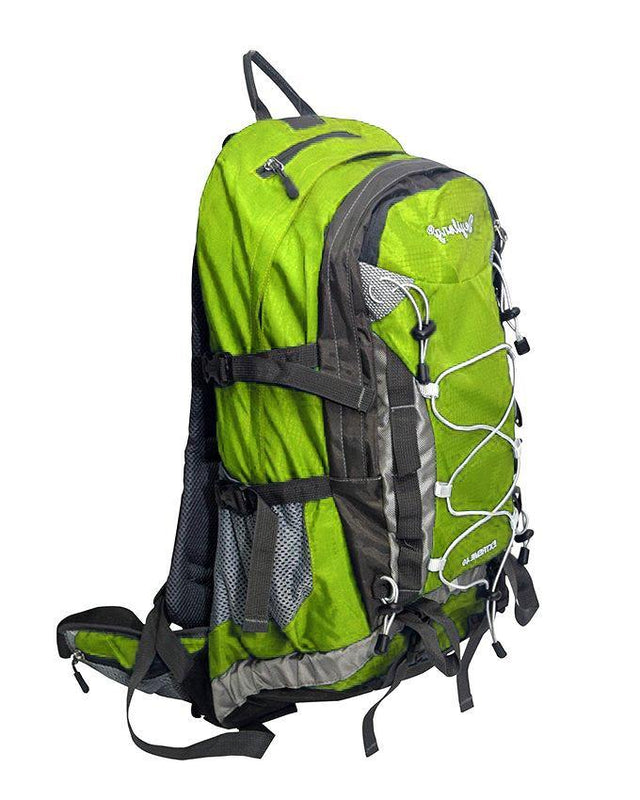 Outdoor Pro Sport Casual Travel Leisure Backpack With Rain Cover - Green - zapple.pk