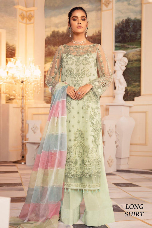 Iznik Chiffon Collection 3pc Unstitched Suit - IFN-02 MELTEM - zapple.pk