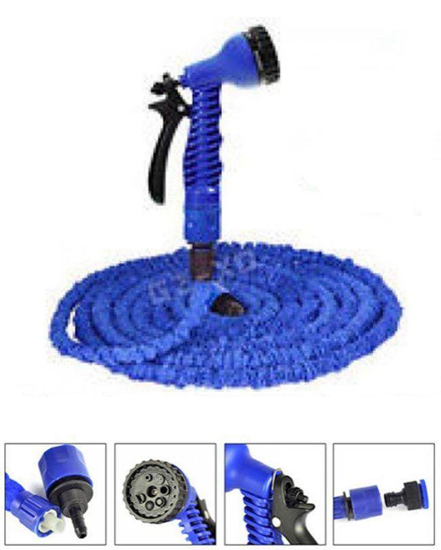 Magic Hose Water Pipe For Garden & Car Wash - 25ft - Blue - zapple.pk