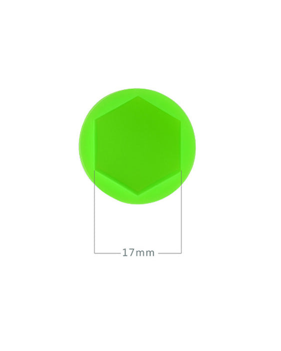 Silicon Wheel Hub Nut Covers 17MM For Cars  - Green