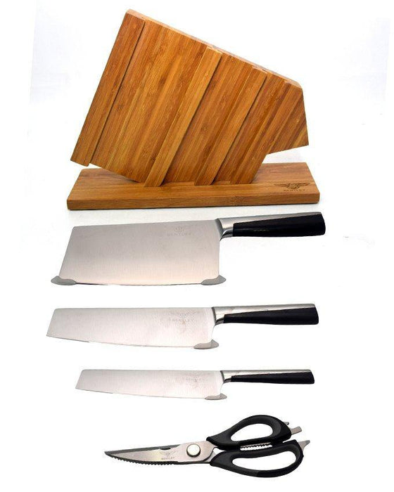 Stainless Steel kitchen Knives set With Wooden Stand - Bentley