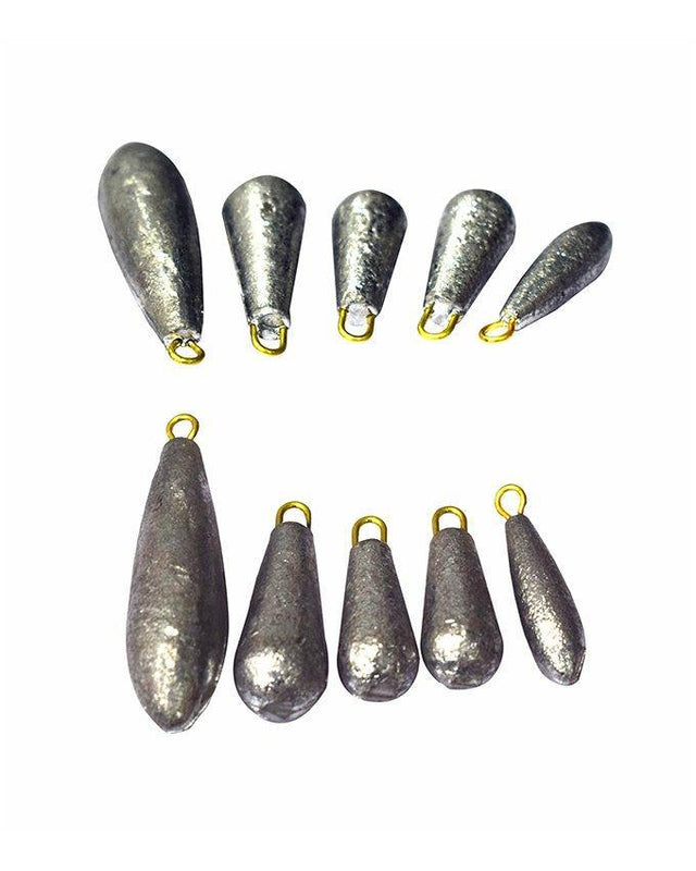 7 Pcs Water Droplets lead Weights Fishing Lead Sinkers Fishing Accessories - zapple.pk