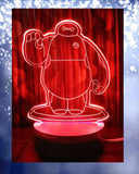 Big Hero Shape 3D Acrylic Lamp With Plastic Base - zapple.pk