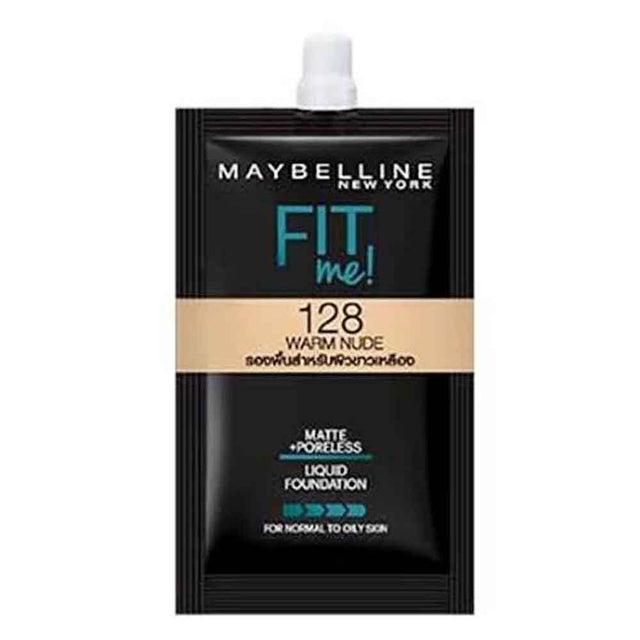 Maybelline Fit Me Liquid Foundation Matte & Poreless 5ml - 128 Warm Nude ( SACby6 ) - zapple.pk