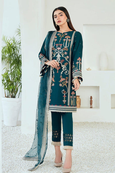 Jazmin Tale of Threads Festive Embroidered Lawn Collection - Arahi - zapple.pk