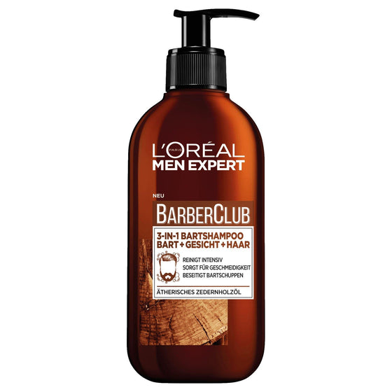 L'ORÉAL Paris Men Expert Barber Club Beard + Face + Hair 3-in-1 Wash - zapple.pk
