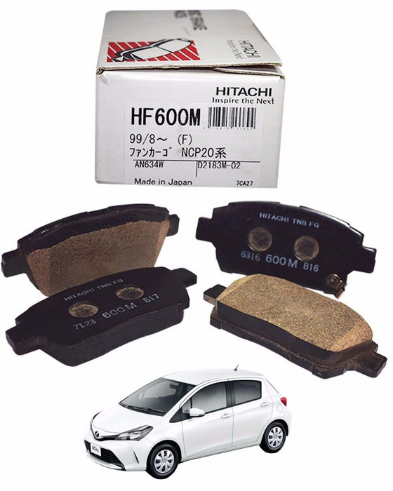 Toyota Vitz 2014 to 2018 - Disc Brake Pads Front