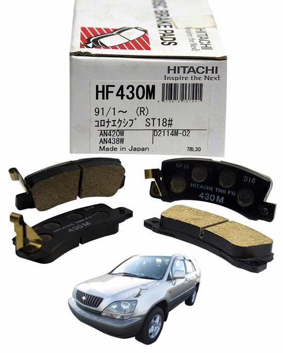 Toyota Harrier SXU15 2200CC 1997 to 2000 - Disc Brake Pads Rear