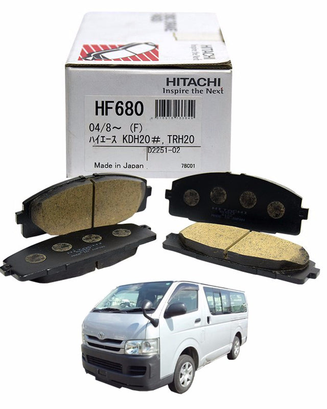 Toyota Hiace 2008 to 2017 - Disc Brake Pads Front - zapple.pk