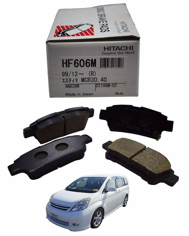 Toyota I.S.I.S 2004 to 2009 - Disc Brake Pads Rear