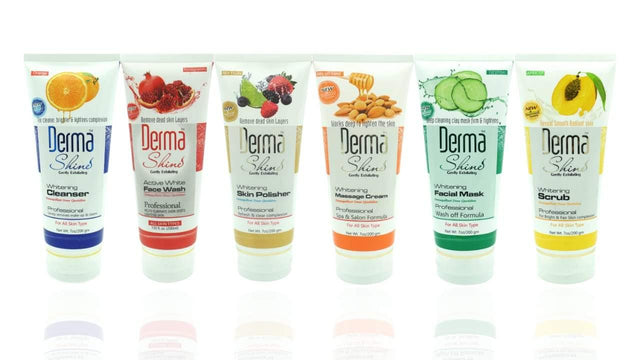 Derma Shine Facial Kit - Pack Of 6 Tubes 50ml  ( ALL Skin Types ) - zapple.pk
