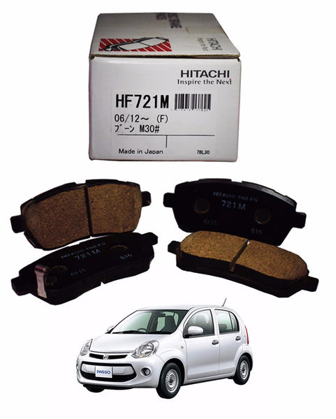 Toyota Passo(Hana Only) 2010 to 2016 - Disc Brake Pads Front - zapple.pk
