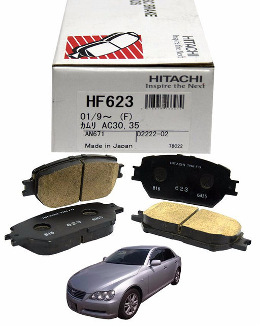 Toyota Mark X 2004 to 2009 2500 CC - Disc Brake Pads Front - zapple.pk