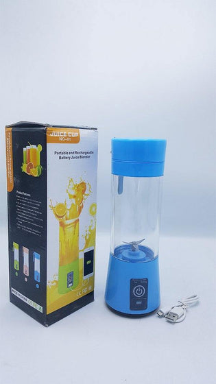 Portable Home USB Rechargeable 4-Blade Electric Fruit Extractor Juice Blender with Power Bank - zapple.pk