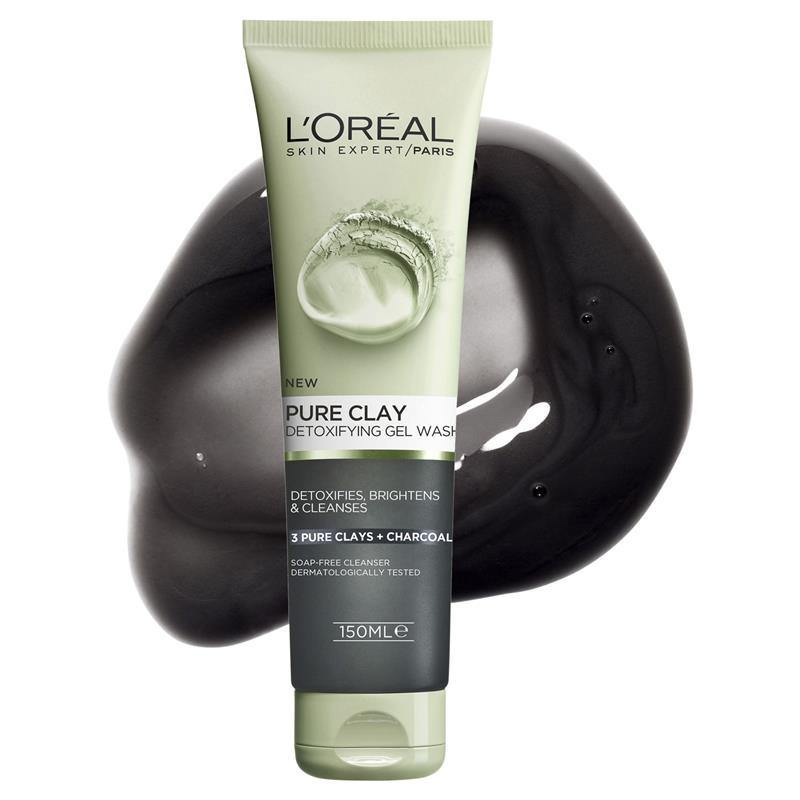 L'ORÉAL Paris Pure Clay Charcoal Detoxifying Facewash Black 150ml