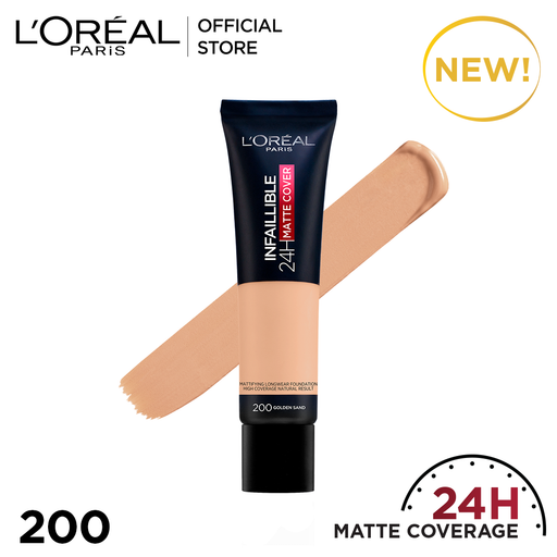 L'ORÉAL Paris Infallible 24H Matte Cover Foundation 200 Golden Sand - zapple.pk