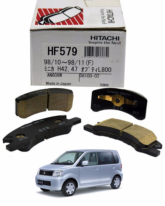 Mitsubishi EK Wagon 2001 to 2007 - Disc Brake Pads Front - zapple.pk