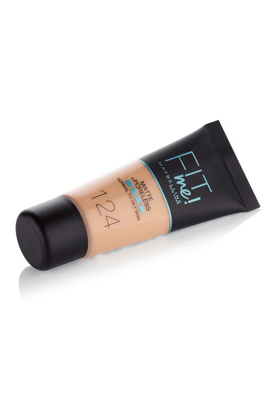 Maybelline Fit Me Liquid Foundation Matte & Poreless - 124 Soft Sand - zapple.pk
