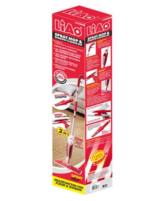 Two in One Spray Mop & Window Cleaner Set - LIAO - zapple.pk