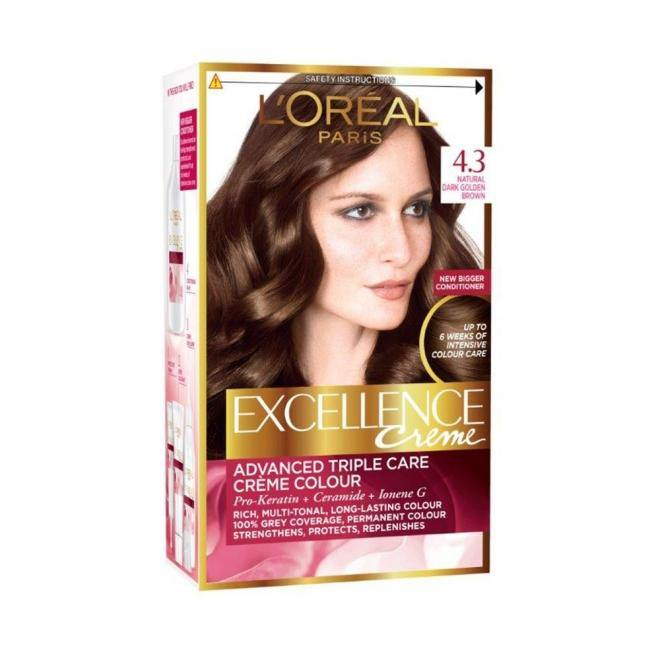 L'ORÉAL Paris Excellence Creme 4.3 Golden Brown - zapple.pk