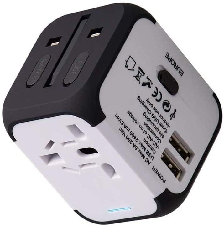 Travel Adapter Dual 2 USB Power Plug - zapple.pk