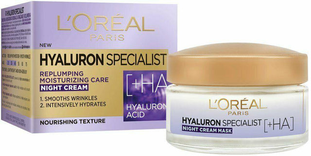 L'Oreal Paris Hyaluron Expert Replumping Moisturizing Night Cream 50ml - zapple.pk