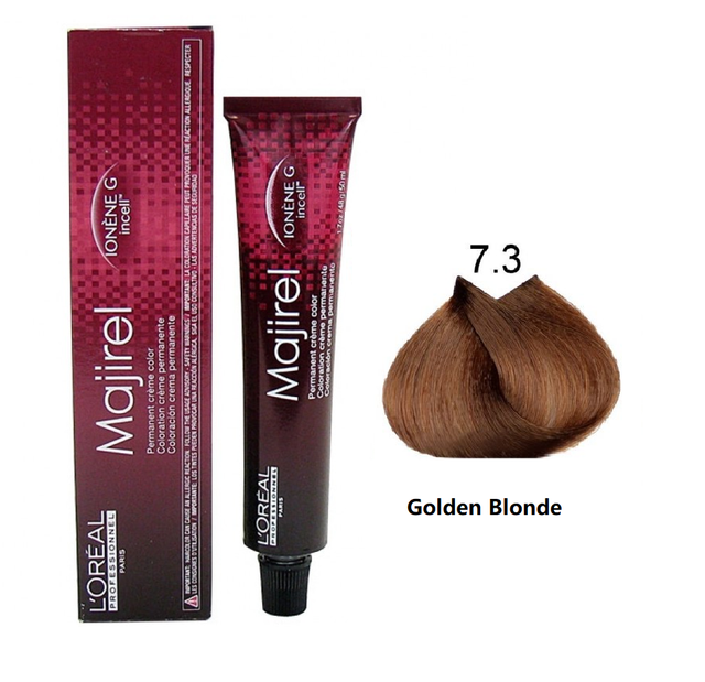 L'ORÉAL Paris Professionnel Majirel Hair Color Creme 7.3 Golden Blonde - 50ml - zapple.pk