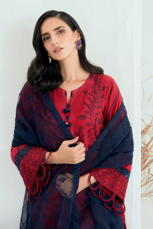 Jazmin Tale of Threads Festive Embroidered Lawn Collection - Amail - zapple.pk