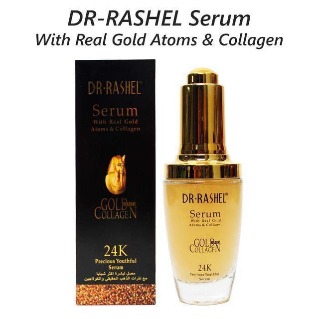 Dr.Rashel Serum with Real Gold Atoms & Collagen 24K - zapple.pk