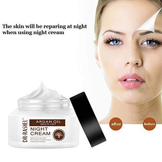 Dr.Rashel Argan Oil Multi Lift Night Cream Reduces Fine Lines - zapple.pk
