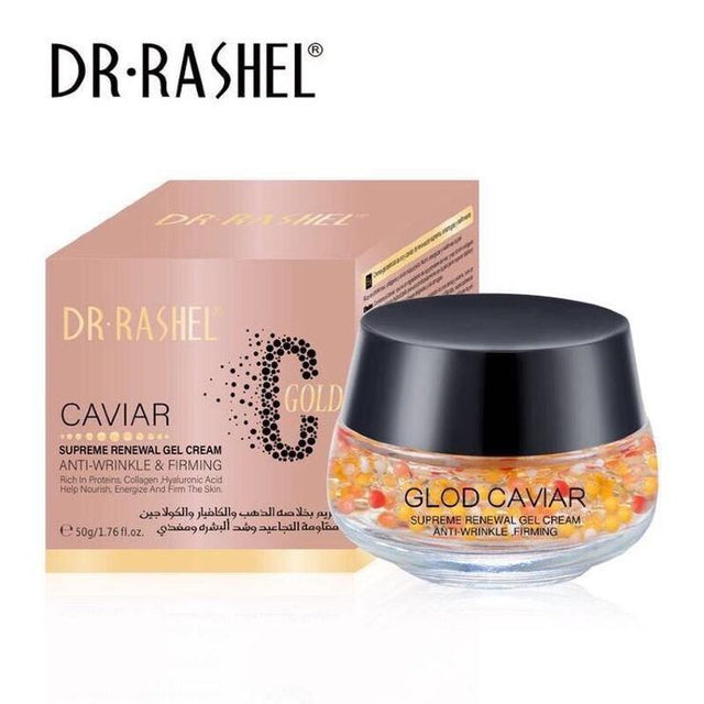 Dr.Rashel C Gold Caviar Supreme Renewal Gel Cream for Anti Wrinkle & Firming - zapple.pk