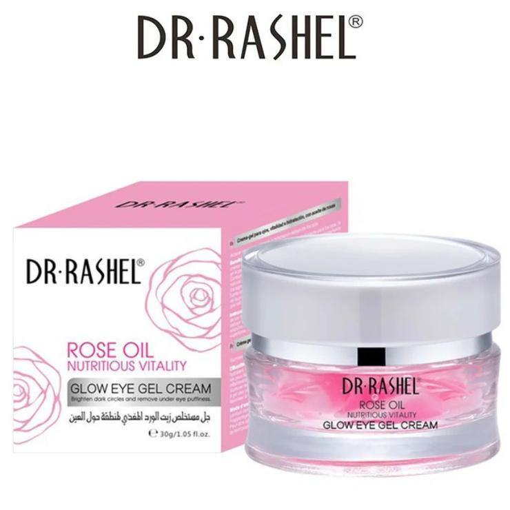 Dr.Rashel Rose Oil Nutritious Vitality Glow Eye Gel Cream - zapple.pk