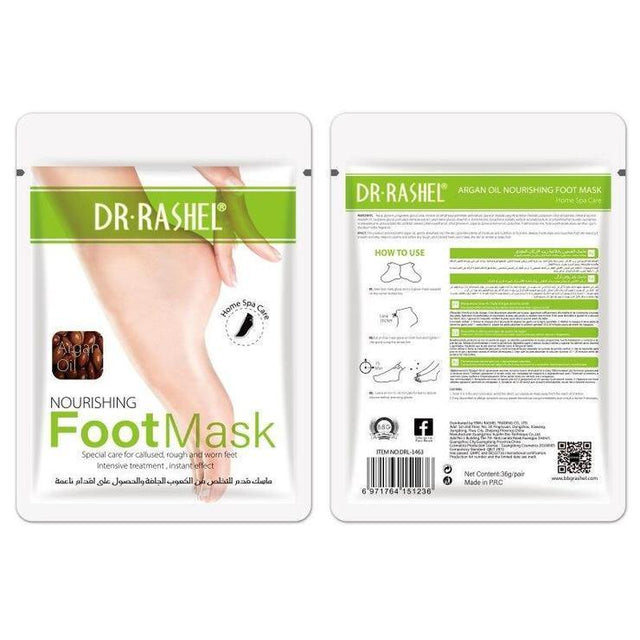 Dr.Rashel Argan oil Nourishing Foot Mask - zapple.pk