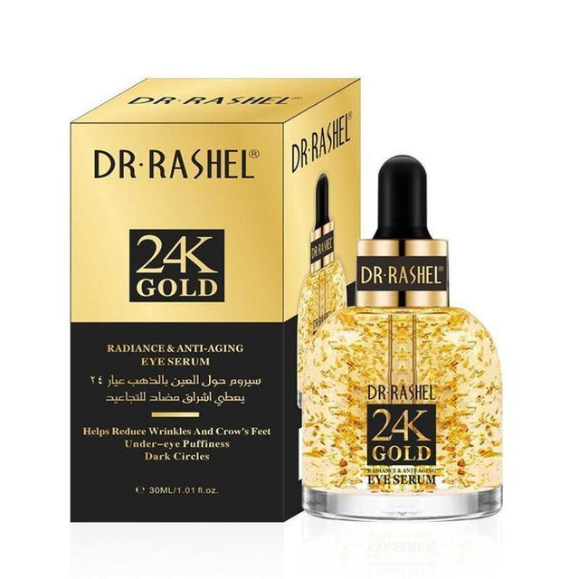 Dr.Rashel 24K Gold Radiance & Anti Aging Eye Serum - zapple.pk